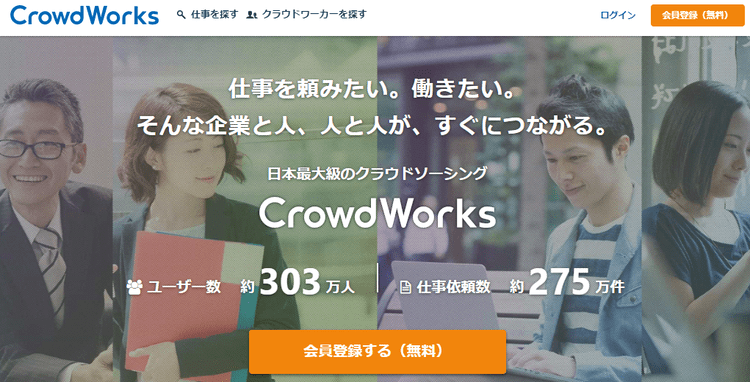 クラウドワークス(CrowdWorks)