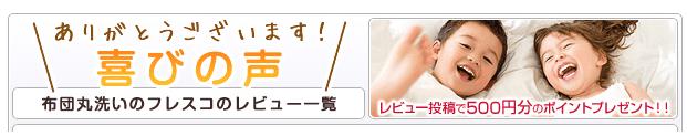 レビュー投稿で500円のポイントプレゼント