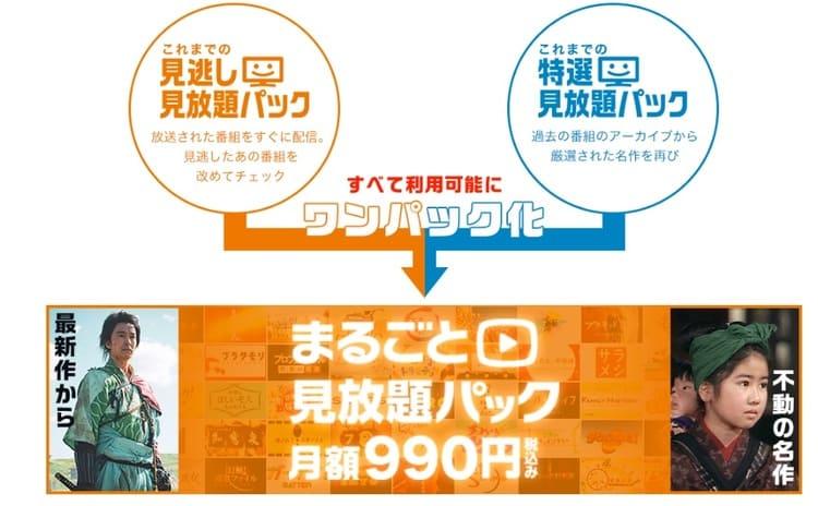 NHKのオンデマンド「まるごと見放題パック」