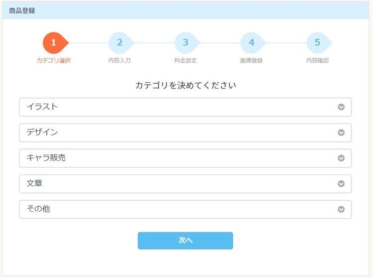 SKIMA(スキマ)出品サービス入力