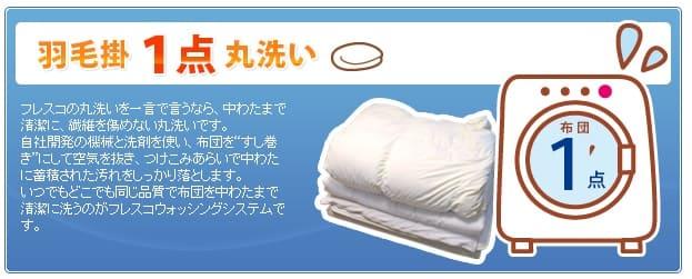布団丸洗いのフレスコ-羽毛掛布団限定コース
