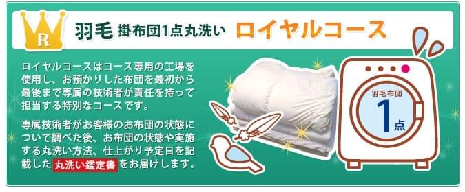 布団丸洗いのフレスコ-羽毛ロイヤルコース
