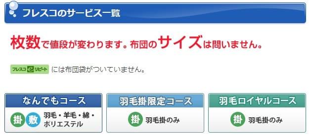 布団丸洗いのフレスコ公式サイトよりネット注文